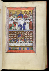 Martyrdom of John the Baptist and Miracle of the Loaves and Fishes, in a Psalter